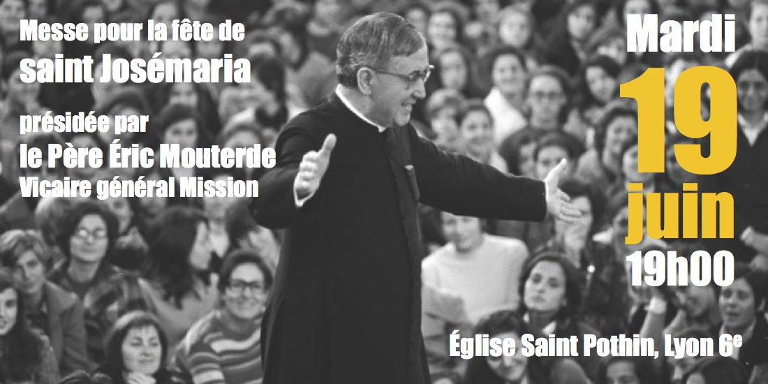 Flyer messe Saint Josemaria 2018